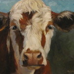 Oklahoma Daily Painters Cow Painting Pearl