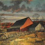 Old Barn Eric Sloane Original Painting Oil Canvas