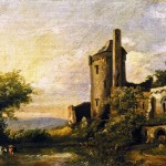 Old Castle Painting Charles Henry Miller Oil