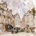 Old Houses Chartres John Marin Painting Watercolor