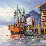 Old Spanish Harbor Oil Painting Tidebuy
