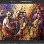 Old Time Jazz Music Art Expressionism