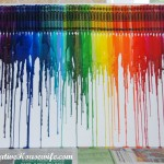 One Creative Housewife Melted Crayon Art