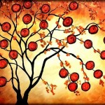 Orange Tree Peggy Garr From Abstract Trees