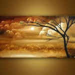 Original Abstract Art Paintings Osnat Landscape Painting