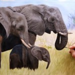 Original Elephant Painting For Sale Ebay Less Than Hours