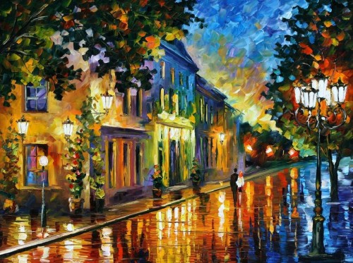 Original Oil Canvas Painting Leonidafremov Deviantart