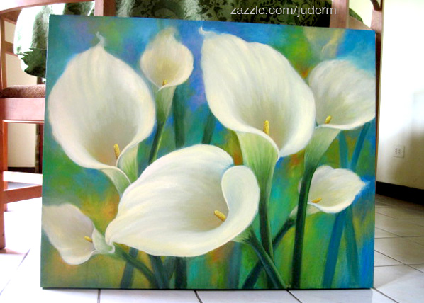 Original Painting Cala Lilies Acrylic Inches