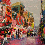 Original Paintings For Sale Expressionism Little Italy Nyc Kedrin