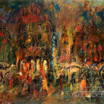 Original Paintings For Sale Expressionism Verona Piazza Bra Kedrin