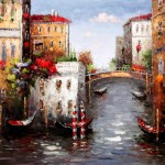 Original Venice Oil Painting Cao Paintings For Sale