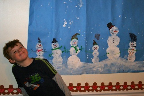 Our Snowman Painting Loves