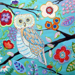 Owl Canvas Painting Flickr Sharing