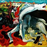 Pablo Picasso Paintings Bullfight Death The