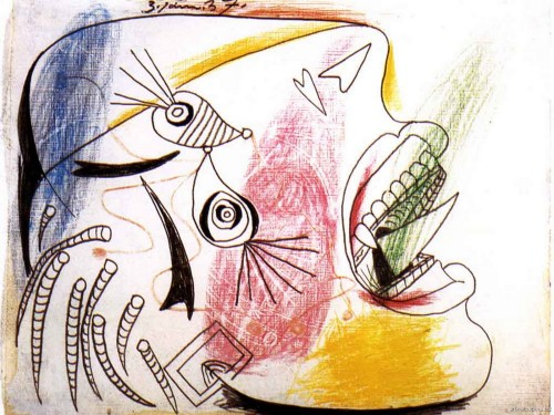 Pablo Picasso Spanish Cubist Painter And Sculptor