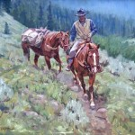 Packing Out Camp Original Western Oil Painting Charles Dayton