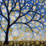 Painting Amy Giacomelli Abstract Tree Nature Original