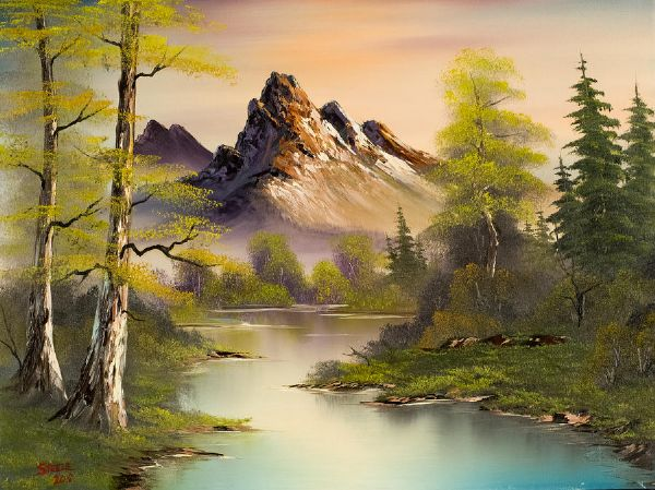Painting Bob Ross Mountain Splendor Paintings For Sale