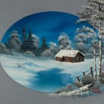 Painting Bob Ross Oval Barn Paintings For Sale