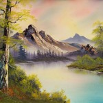 Painting Bob Ross Pastel Skies Paintings For Sale