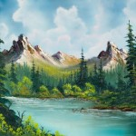 Painting Bob Ross Twin Peaks River Paintings For Sale