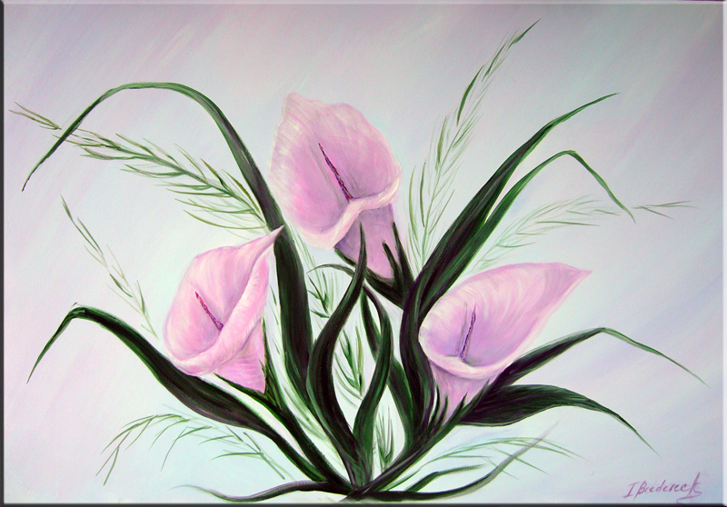 Painting Calla Lily Large