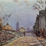 Painting Camille Pissarro Street Snow Effect
