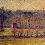 Painting Camille Pissarro The Coast Vaches