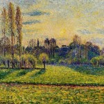 Painting Camille Pissarro View Bazincourt Sunset