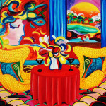 Painting Day Objets Art Peter Max Interior Oil