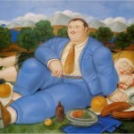 Painting Fernando Botero The Nap