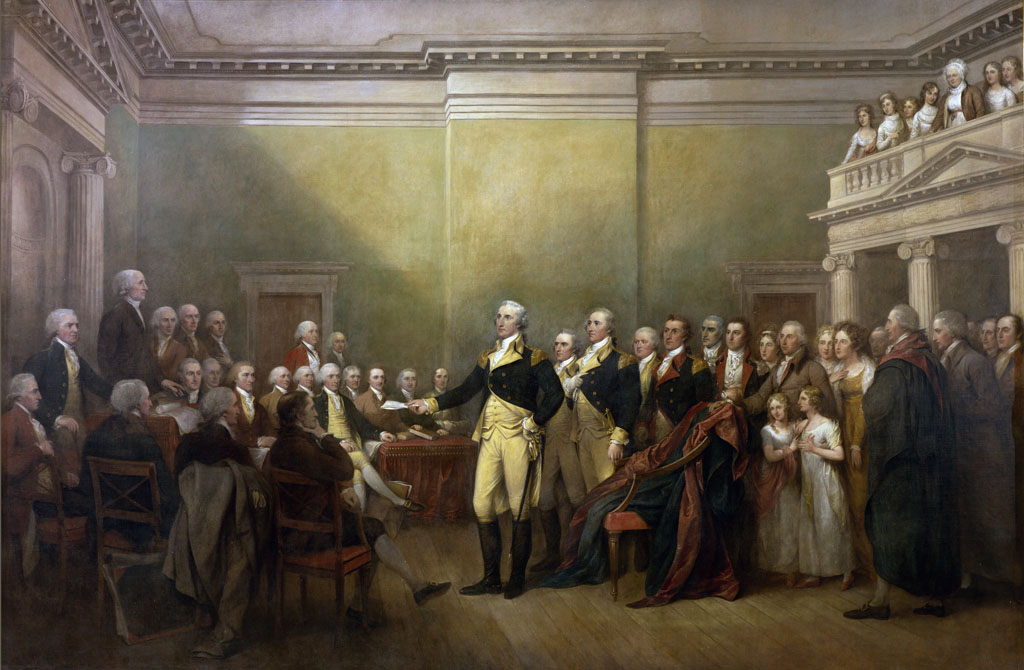 Painting George Washington Resigning His Commission Army