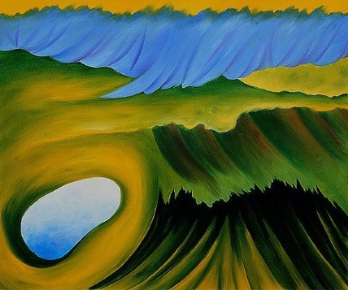Painting Georgia Keeffe Mountains And Lake