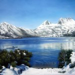 Painting Landscape Lake Scenery And Seascape