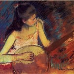 Painting Mary Cassatt Girl Banjo