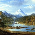 Painting Name Mountain Landscape Indians