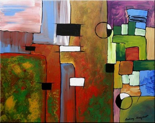 Painting Original Paintings Modern Abstract For Sale