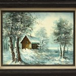 Painting Robert More Snowscape Lot
