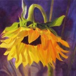 Painting Sunflower Oil Glow Floral Art Marina