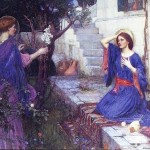 Painting The Angel Gabriel And Mary William Waterhouse