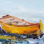 Painting The Day Row Boat Oil