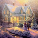 Painting Thomas Kinkade Blessings Christmas