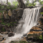 Painting Tutorial Waterfall How Paint
