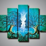 Painting Wall Art Canvas Decoration Home Blue Artwork