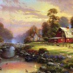 Painting Works Pastoral House Art Paintings