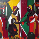 Paintings African Market Page Contemporary Art