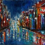 Paintings And Jazz Art Abstract New Orleans Cityscape Painting