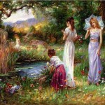 Paintings Cao Yong Garden Beauties For Sale Oil