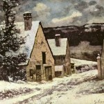 Paintings Galleries Gustave Courbet Painting Winter Shapes