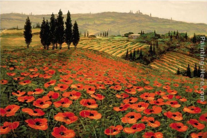 Paintings Hills Tuscany Painting